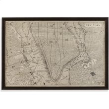 Vintage Map of New York Wall Art