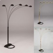 "Peacock Shade Floor Lamp Bk 82""h Product Image"