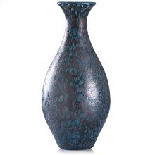 Modbury Blue  18in x 8in Elegant Artglass Vase