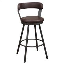 Swivel Pub Height Chair, Brown