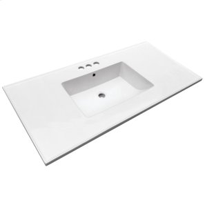 "Hartley 43"" Vanity Top - 4"" Centerset Product Image"