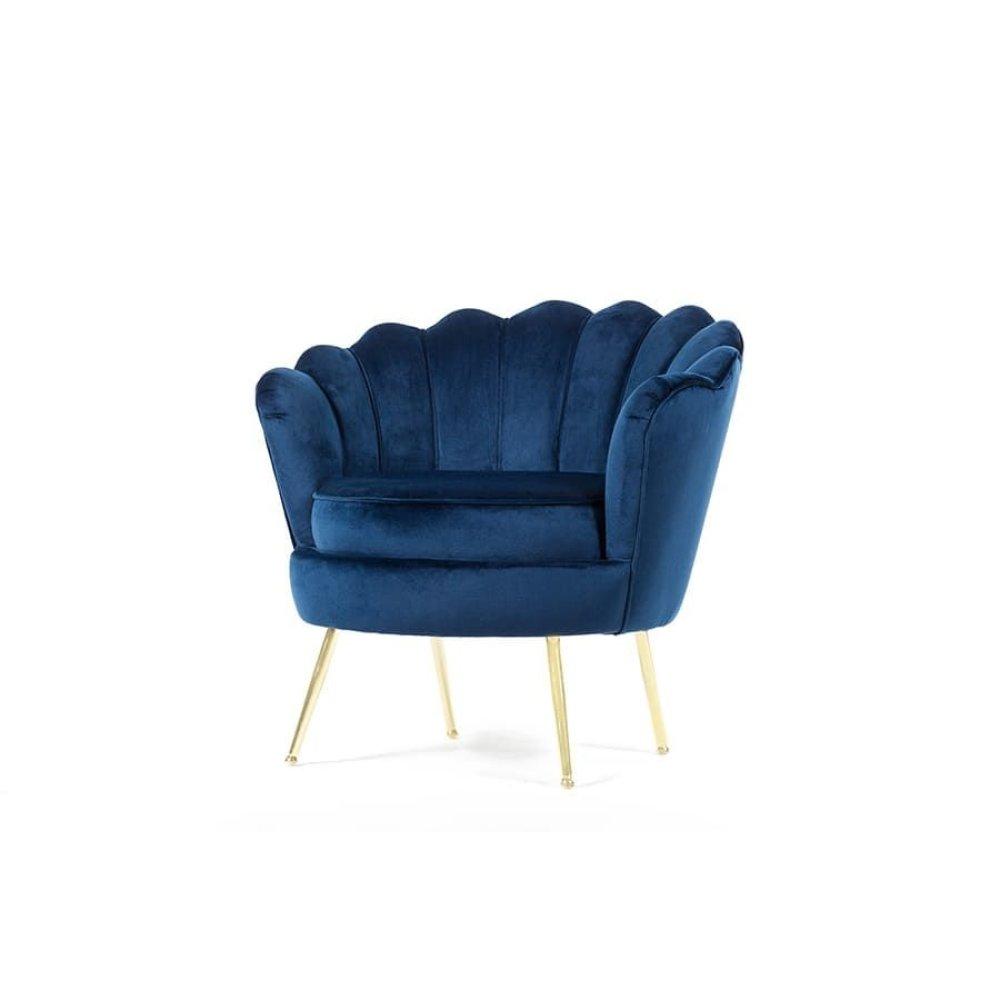 Fleur Blue Accent Chair, AC1830