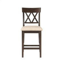 Counter Height Chair, Double X Back