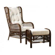 Bora Bora 2 PC Occasional Chair w/ottoman and cushions