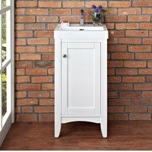 """Shaker Americana 18x16"""" Vanity - Polar White"""