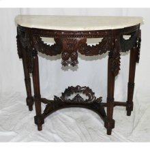 Marble Top Pineapple Console