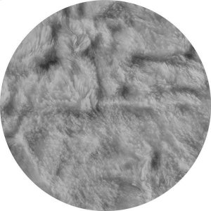 Cover for Pillow Pod or Footstool - Faux Fur - Grey Product Image