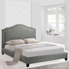 Charlotte Queen Bed in Gray