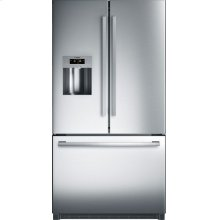 800 Series French Door Bottom Mount Refrigerator Stainless steel, Easy clean stainless steel