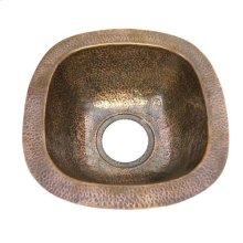 "12"" Trent Copper Bar u0026 Prep Sink - Antique Copper"
