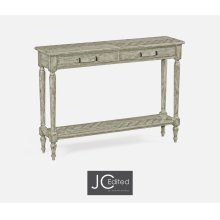 Rustic Grey Parquet Console Table