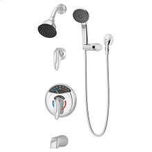 Symmons Visu-Temp® Tub/Shower/Hand Shower System - Polished Chrome