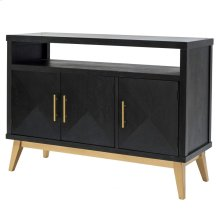 Leonardo KD Sideboard 3 Doors Gold Legs, Black Wash