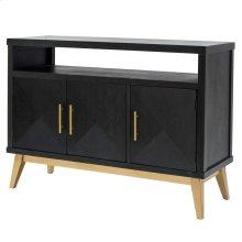 Leonardo KD Sideboard 3 Doors Gold Legs, Black Wash