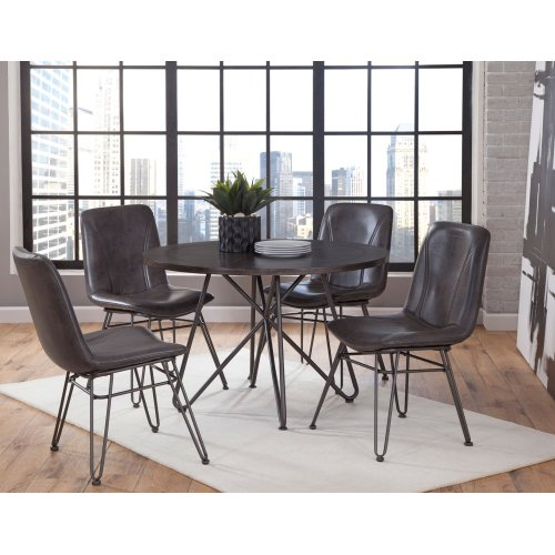 "Derek PU Side Chair W19.5"" xD20.5""xH36"""