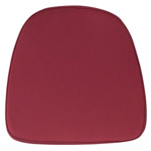 Soft Burgundy Fabric Chiavari Chair Cushion Product Image