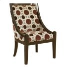 "Mulberry & Grey High Back Accent Chair, 20-1/2"" Seat Height Product Image"