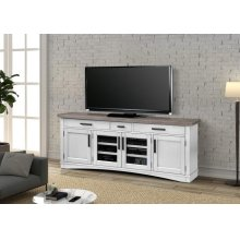 Americana Modern Cotton 76 in. TV Console