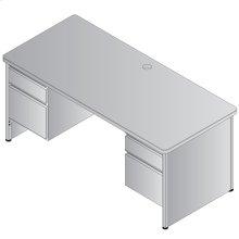 Metal Desk Double Pedestal 68x32