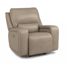 Blade Leather Power Gliding Recliner with Power Headrest