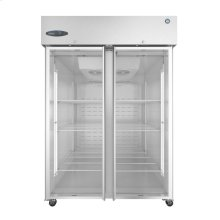 CF2S-FGE, Freezer, Two Section Upright, Full Glass Doors