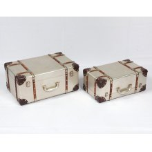 Emerald Home Ac213-rect-2pcset Treviso Accent Table Set, Champagne
