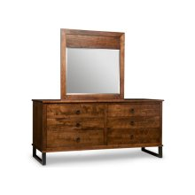 Cumberland Landscape Mirror with Wood Panel