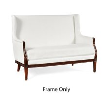 Winged loveseat, Frame only