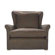 Winslow Lounge Chair Brown Linen