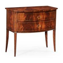 Biedermeier style mahogany bow front chest