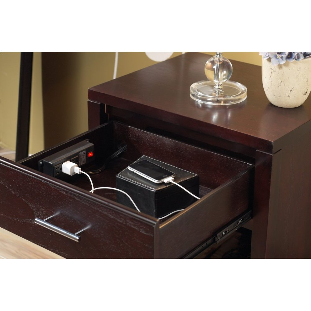Nevis Nightstand with Charging Station