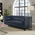 Imperial Bonded Leather Sofa in Blue Product Image