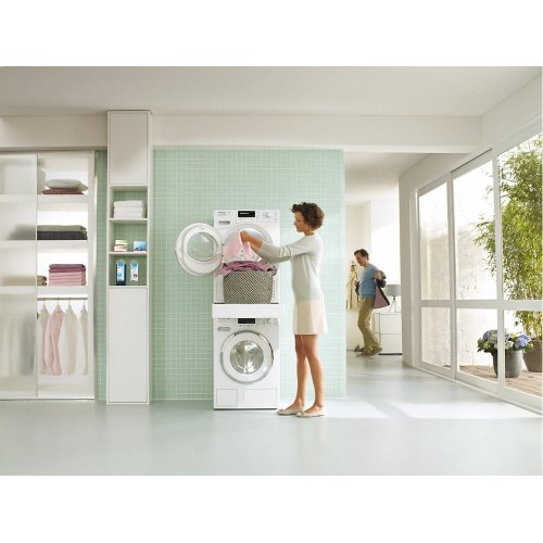 WTV 512 Washer-dryer stacking kit with integrated drawer for a particularly convenient washer-dryer stack.