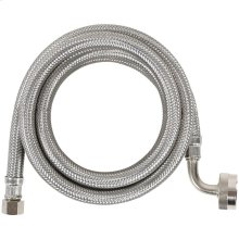 Braided Stainless Steel Dishwasher Connector with Elbow, 4ft