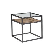 Ranch Showcase End Table