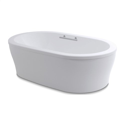 "Easy-Clean High Gloss Acrylic Surface, Oval, Soaking Bathtub, 36"" X 66"""