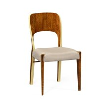Hyedua and Celadon Side Chair, Upholstered in MAZO