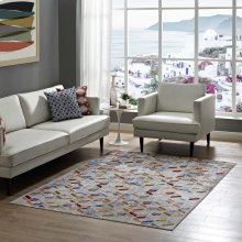Laleh Geometric Mosaic 5x8 Area Rug in Multicolored