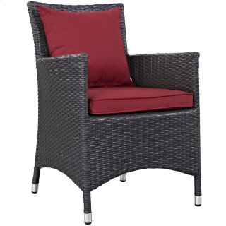 Convene Dining Outdoor Patio Armchair in Espresso Red