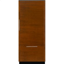 "Integrated Built-In Bottom-Freezer Refrigerator, 36"", Custom Overlay Right Hand Door Swing"