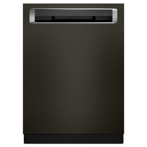 46 DBA Dishwasher with Third Level Rack and PrintShield™ Finish, Pocket Handle - Black Stainless