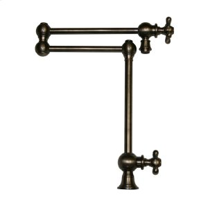 Vintage III deck mount pot filler with cross handles and a swivel aerator. Product Image