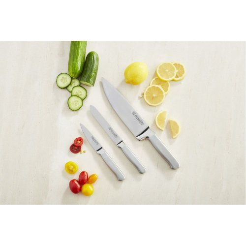 Classic Forged 3-Piece Brushed Stainless Starter Cutlery Set - Stainless Steel Finish