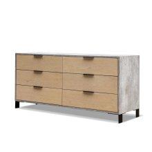 Nova Domus Conner Modern Light Walnut & Concrete Dresser