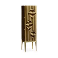 Op Art Diamond Bright Satinwood Left Drinks Cabinet