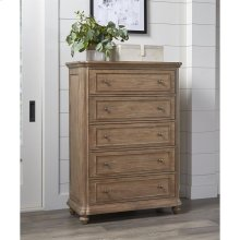 Madison - Five Drawer Chest - Caramel Finish