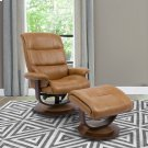Knight Butterscotch Manual Reclining Swivel Chair and Ottoman Product Image