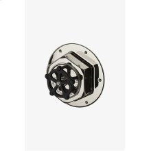Regulator Thermostatic Control Valve Trim with Black Wheel Handle STYLE: RGTH01