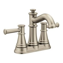Belfield brushed nickel two-handle bathroom faucet