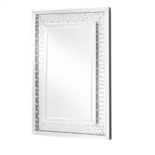 Sparkle 24 in. Contemporary Crystal Rectangle Mirror in Clear